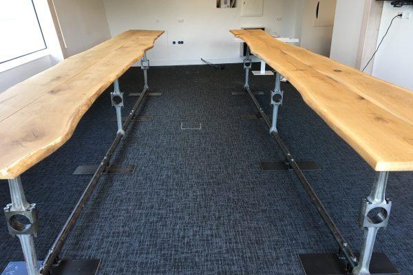 Lunchtafels van 3 dubbele drijfstangen