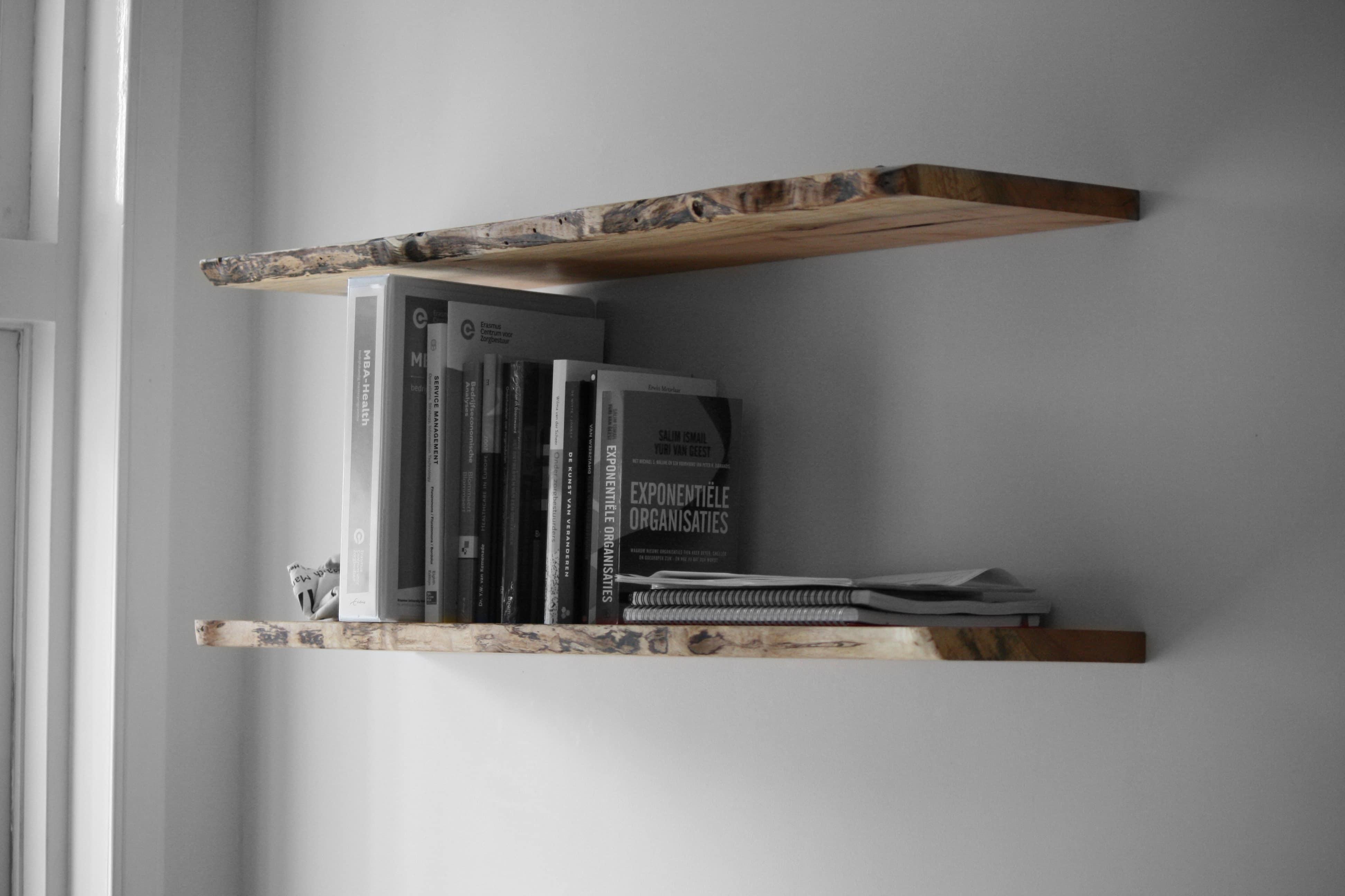 Zwevende Plank Hout.Zwevende Plank Kien Met Hout